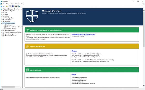 Windows Defender zentral überwachen mit DriveLock Microsoft Defender AV Management - einfache Konfiguration
