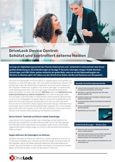Schnittstellenkontrolle bzw. Device Control von DriveLock erfüllt die Anforderungen für den öffentlichen Sektor